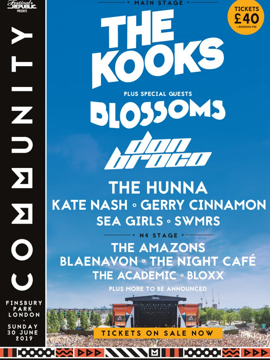 Don Broco, The Hunna, Blaenavon and SWMRS are coming to Community '19!